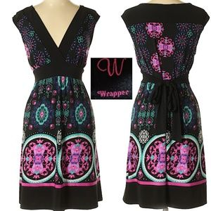 Wrapper Colorful Sleeveless Dress